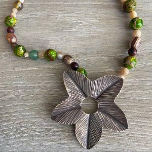 "Karen Hill Tribe Silver Pendant Necklace 20"""